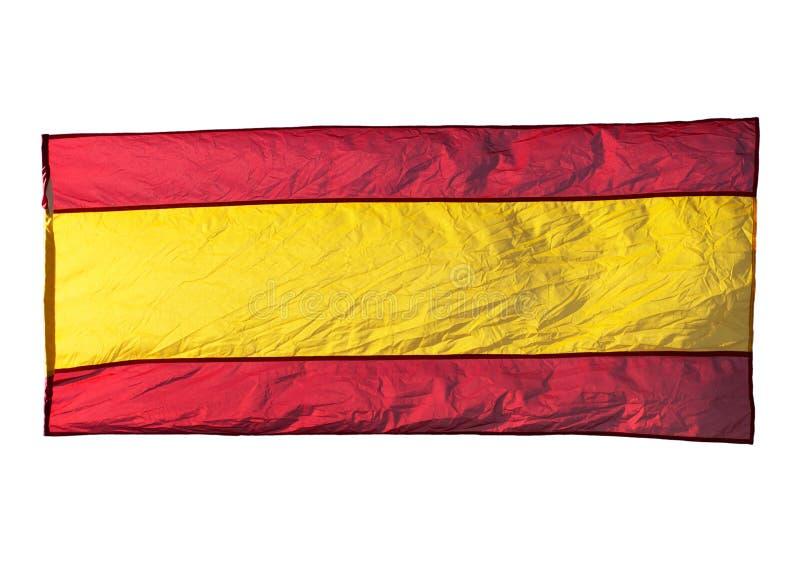 Bandera española aislada en viento imágenes de archivo libres de regalías