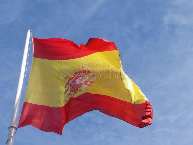 Bandera española de España imágenes de archivo libres de regalías