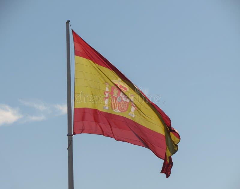 Bandera española de España imagen de archivo