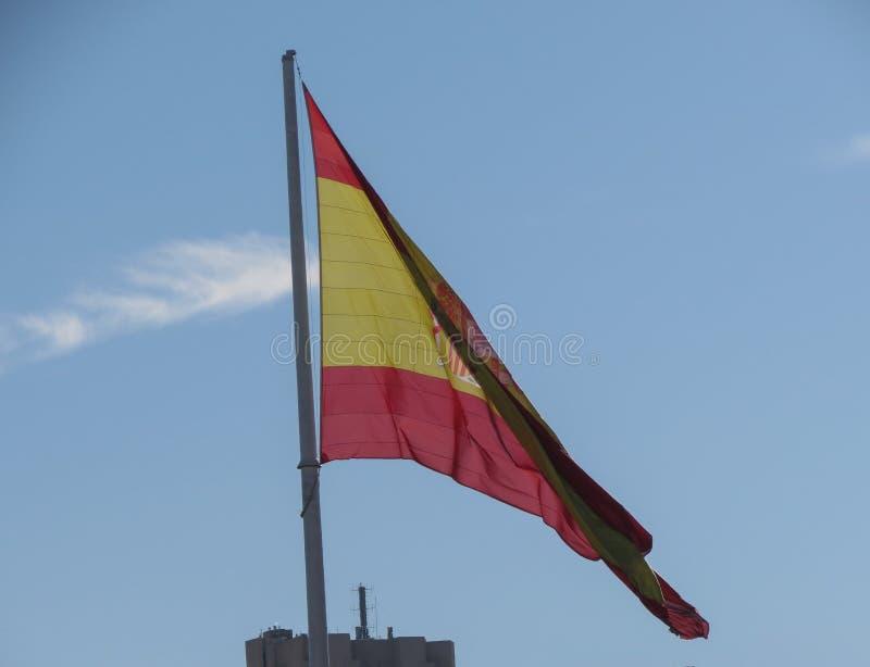 Bandera española de España fotografía de archivo