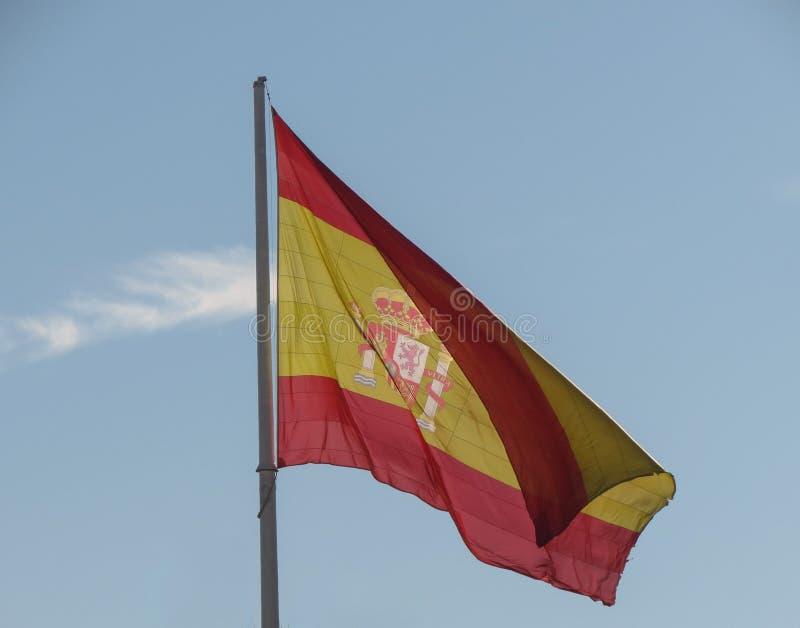 Bandera española de España fotografía de archivo libre de regalías