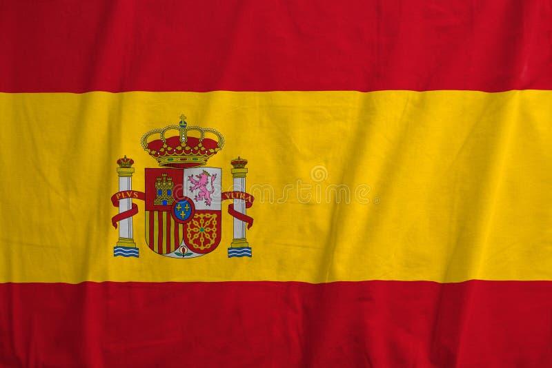 Bandera española que sopla en el viento imagen de archivo libre de regalías