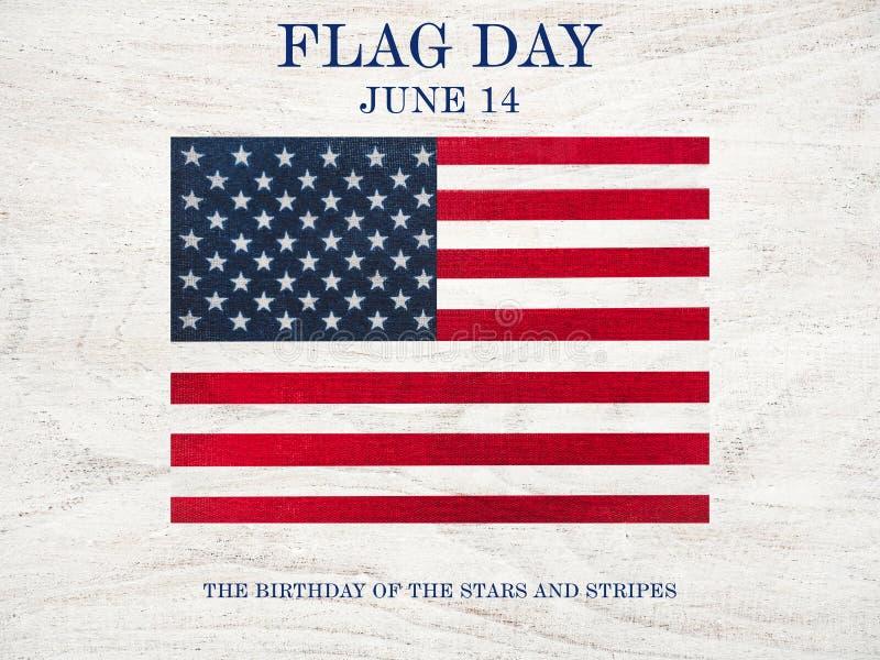 Bandera estadounidense Bonita carta brillante Vista superior foto de archivo libre de regalías