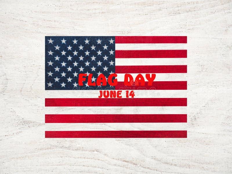 Bandera estadounidense Bonita carta brillante Vista superior imágenes de archivo libres de regalías