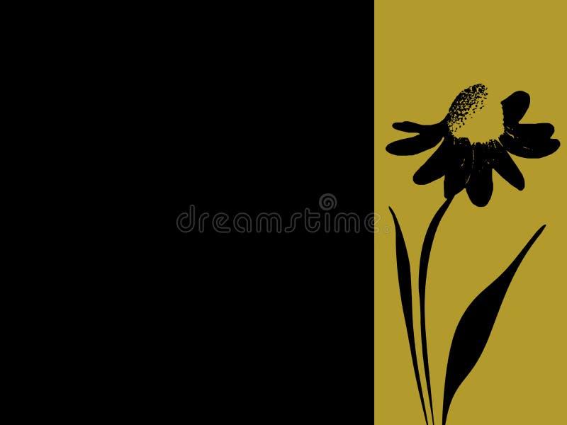 Bandera estampada de la margarita libre illustration