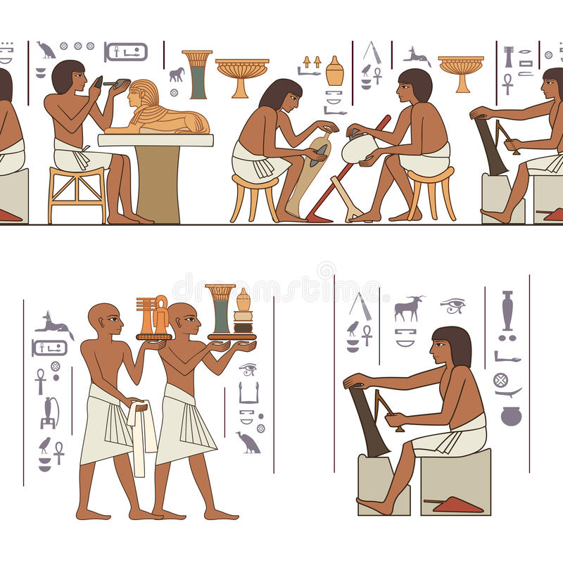 Bandera estilizada de Egipto antiguo libre illustration