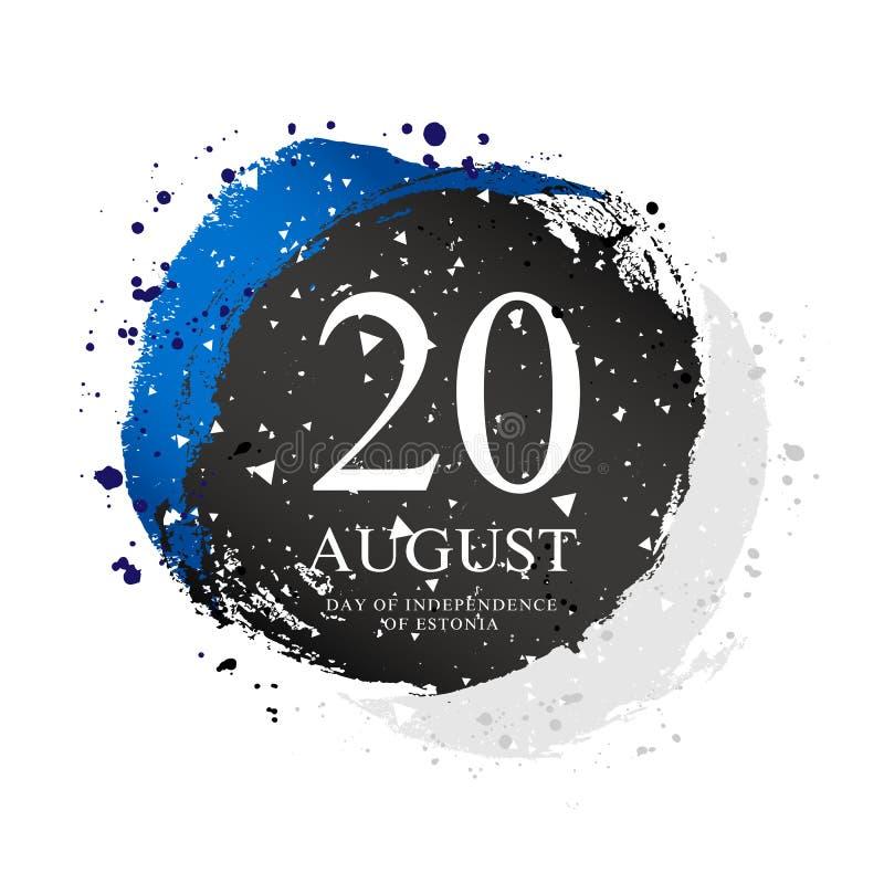 Bandera estonia en la forma de un círculo 20 de agosto - Día de la Independencia en Estonia libre illustration