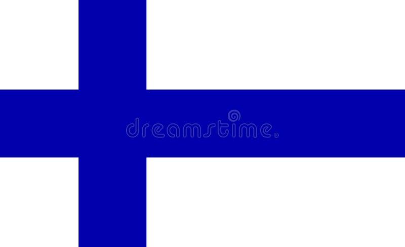 Bandera exacta de Finlandia ilustración del vector