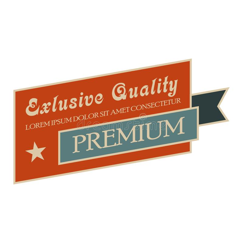 Bandera exclusiva del vintage de la calidad ilustración del vector