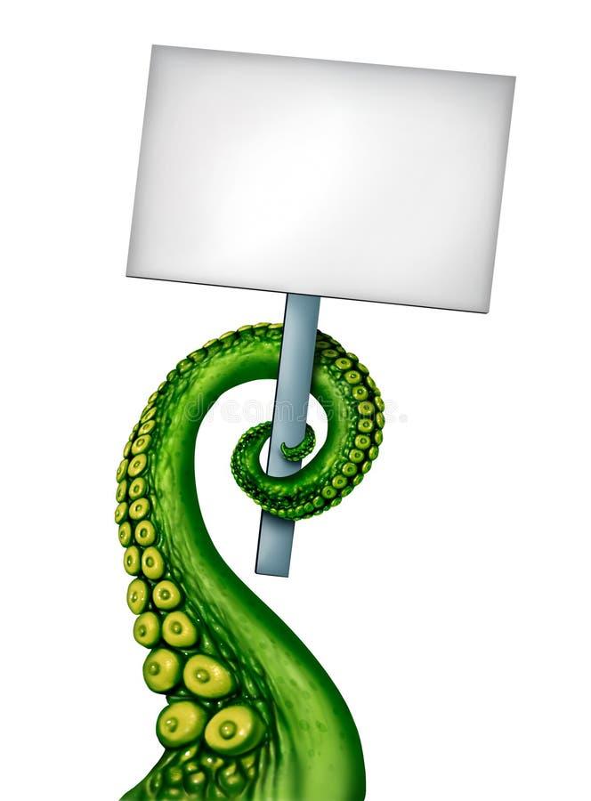 Bandera extranjera de la criatura ilustración del vector