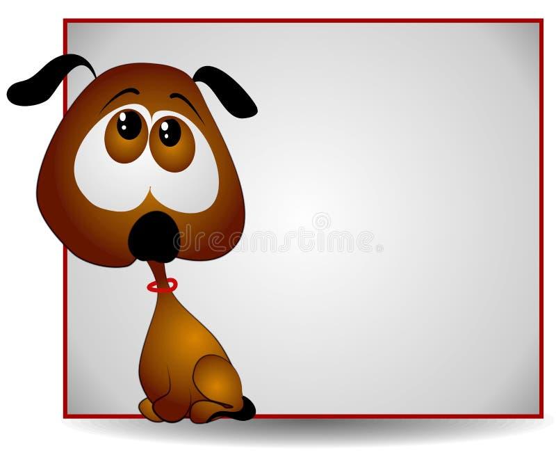 Bandera Eyed grande triste del perrito ilustración del vector