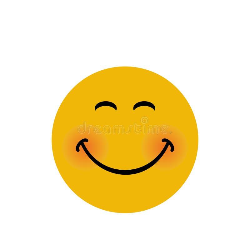Bandera feliz de la cara con el ejemplo del vector de la expresión de la sonrisa ilustración del vector