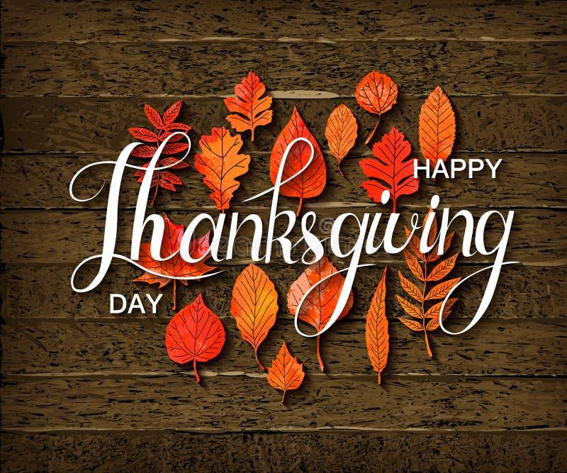 Bandera feliz del Día de Acción de Gracias stock de ilustración