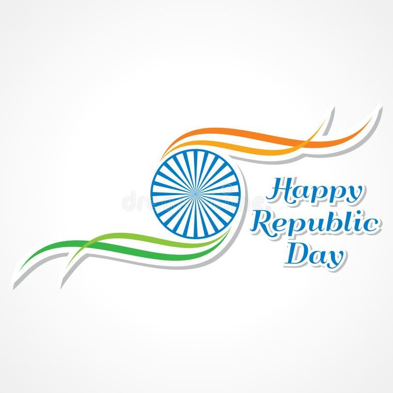 Bandera feliz del día de la república stock de ilustración
