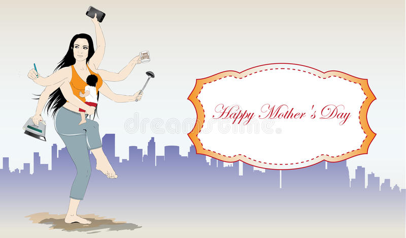 Bandera feliz del vector del día de madres libre illustration