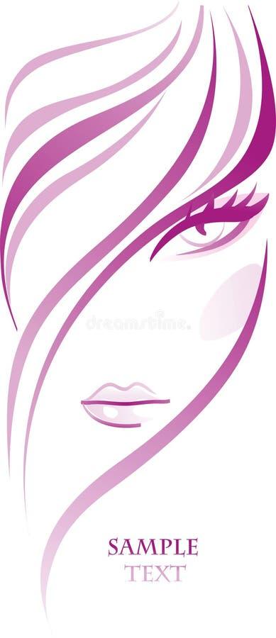Bandera femenina ilustración del vector