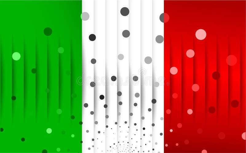 Bandera festiva de Italia stock de ilustración