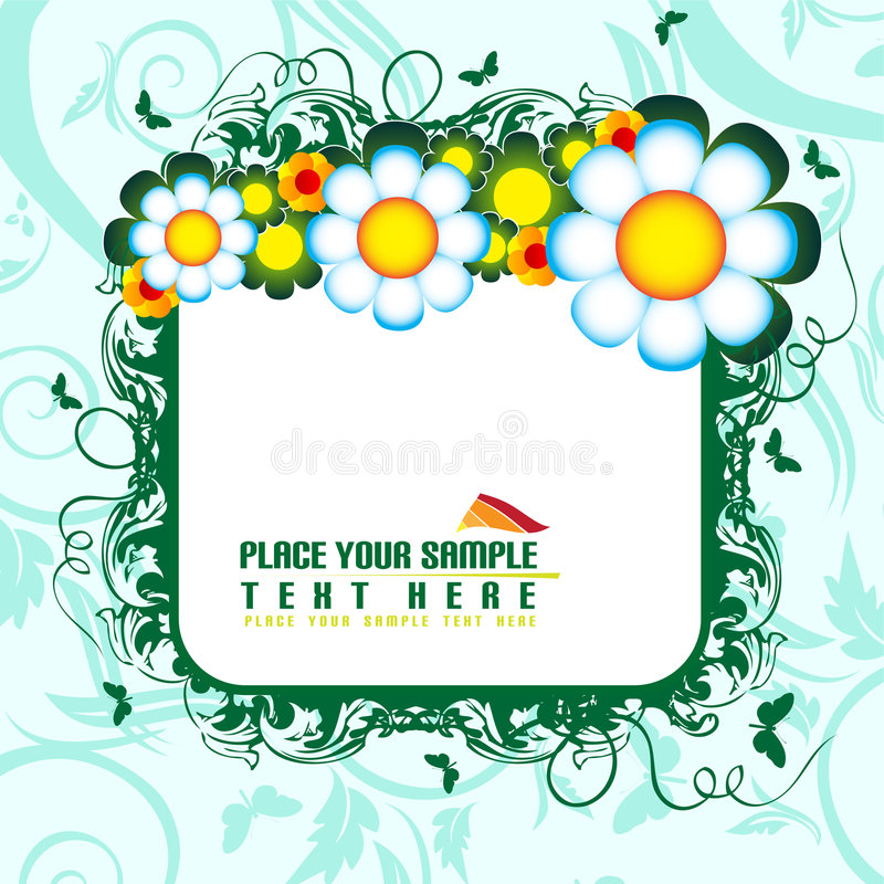 Bandera floral libre illustration