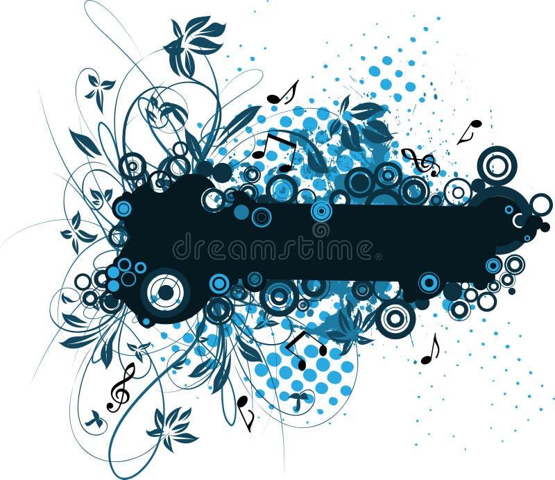Bandera floral stock de ilustración