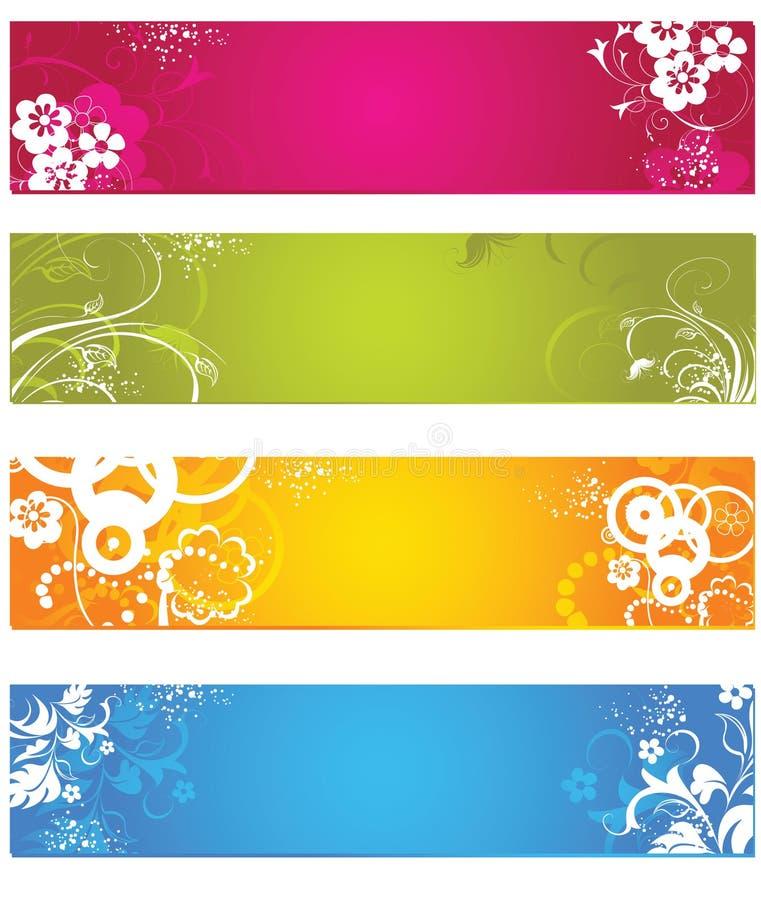 Bandera floral libre illustration