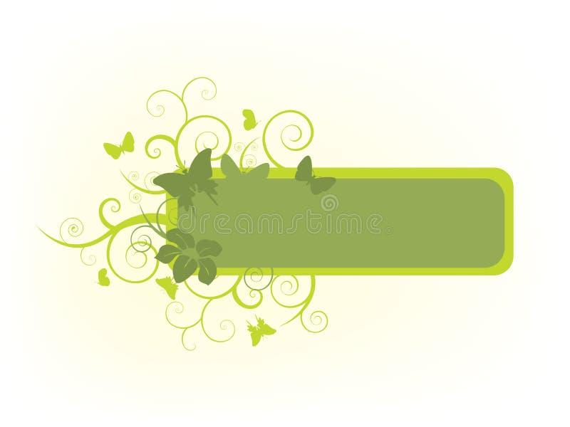 Bandera floral de la naturaleza ilustración del vector