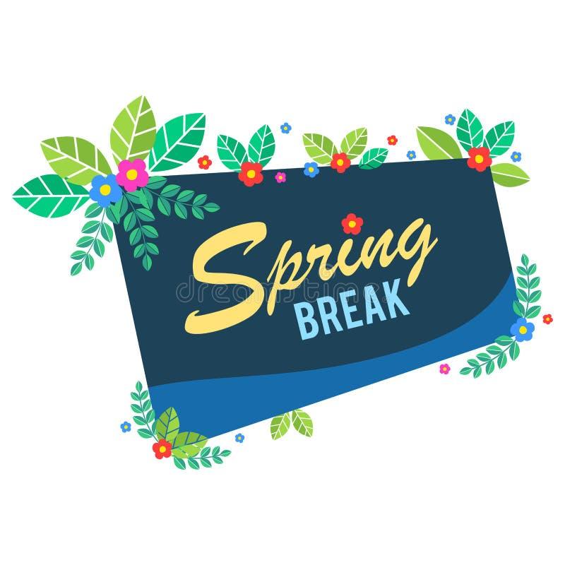 Bandera floral de las vacaciones de primavera stock de ilustración