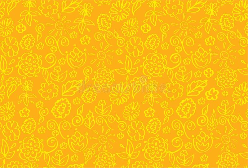 Bandera floral del verano stock de ilustración