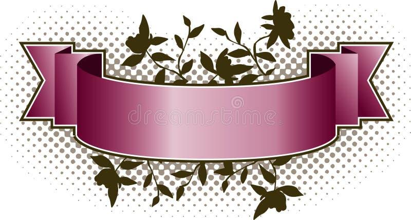 Bandera floral rosada ilustración del vector