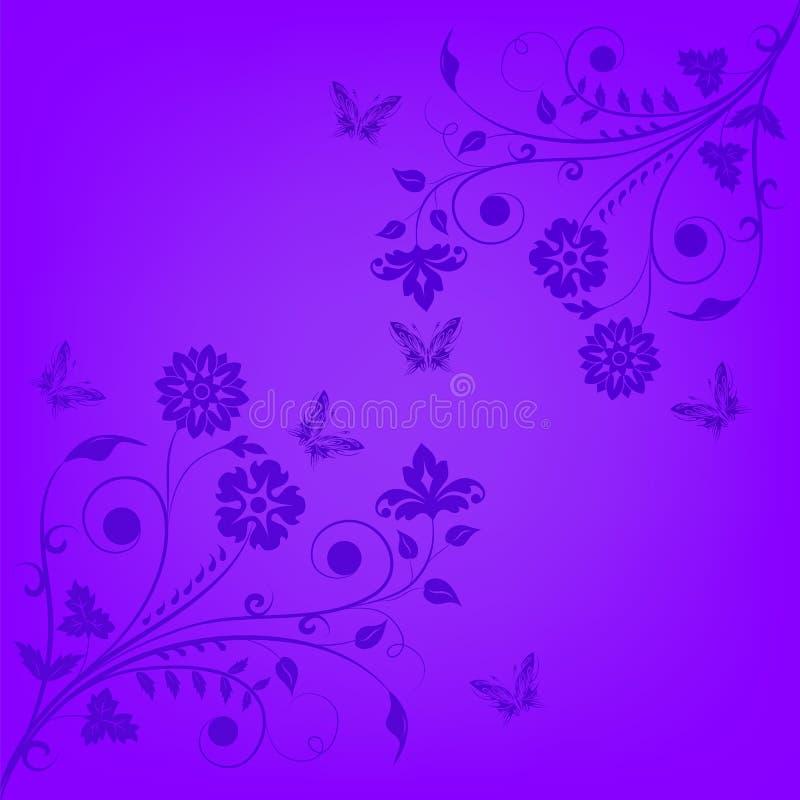 Bandera floral violeta ilustración del vector