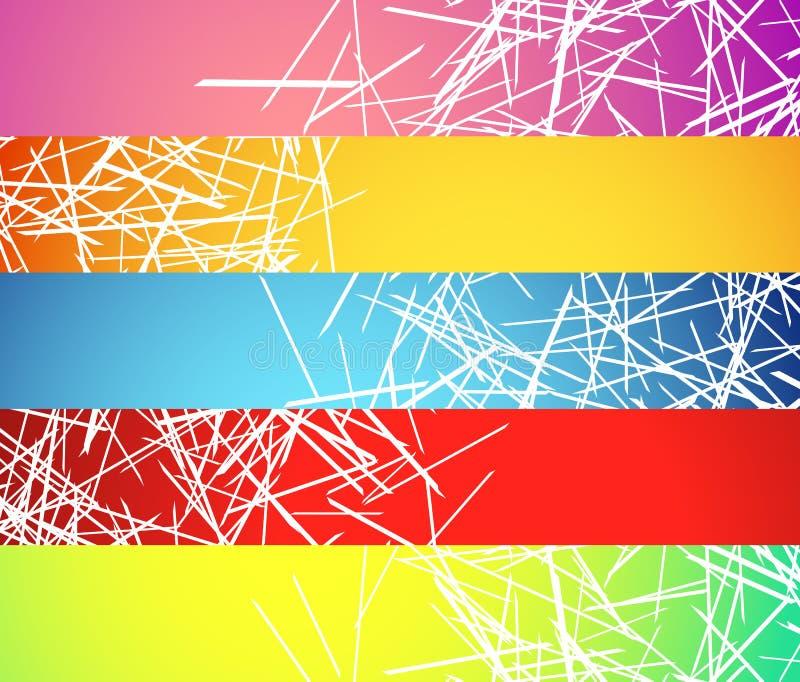 Bandera, fondos del botón con las líneas al azar, caóticas abstractas libre illustration