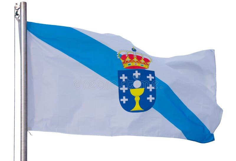 Bandera gallega aislada fotos de archivo libres de regalías