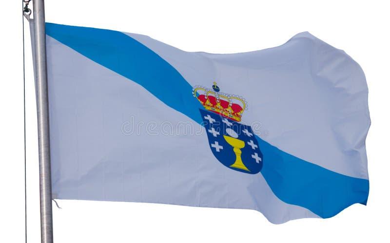 Bandera gallega aislada imagenes de archivo
