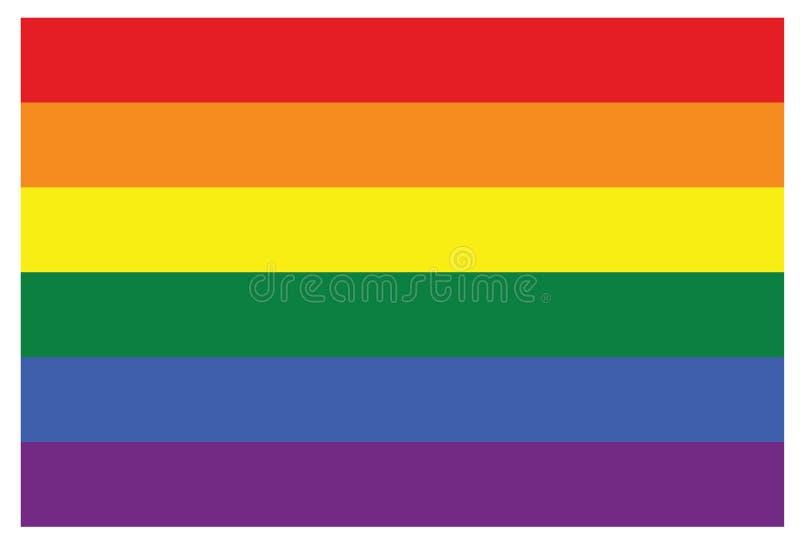 Bandera gay del símbolo del arco iris de LGBT ilustración del vector