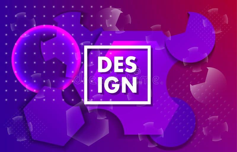 Bandera geométrica Diseño mínimo stock de ilustración