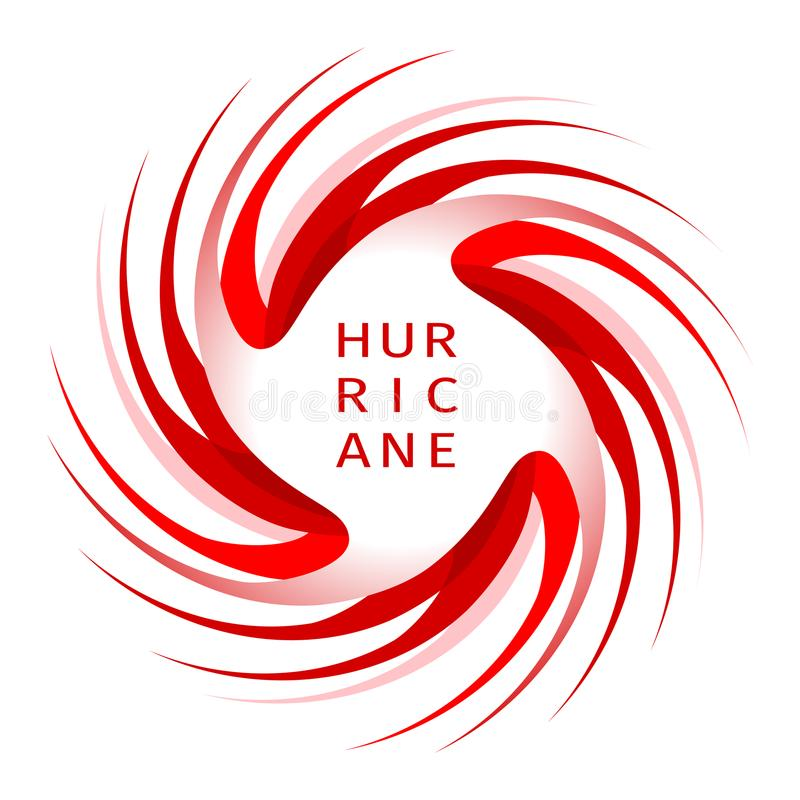 Bandera gráfica de la advertencia del huracán ilustración del vector