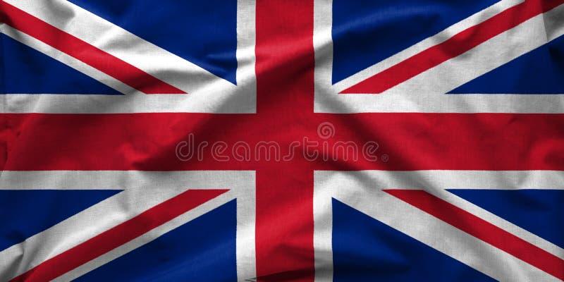 Bandera granangular de la bandera británica de Union Jack foto de archivo