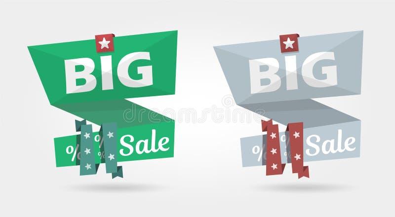 Bandera grande de la venta, plantilla de la bandera de la publicidad de la oferta especial libre illustration