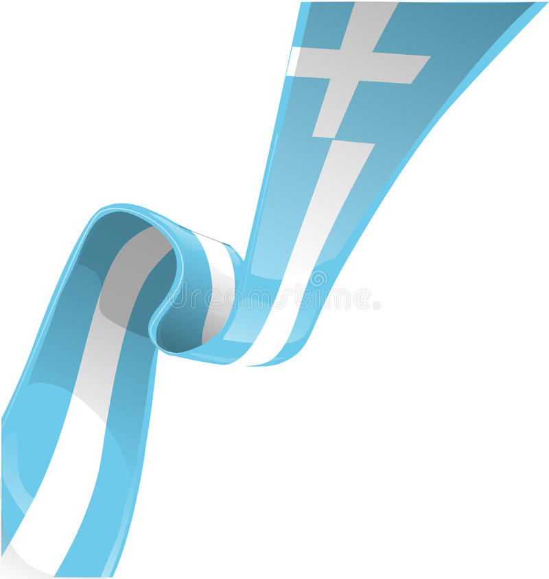 Bandera griega de la cinta libre illustration
