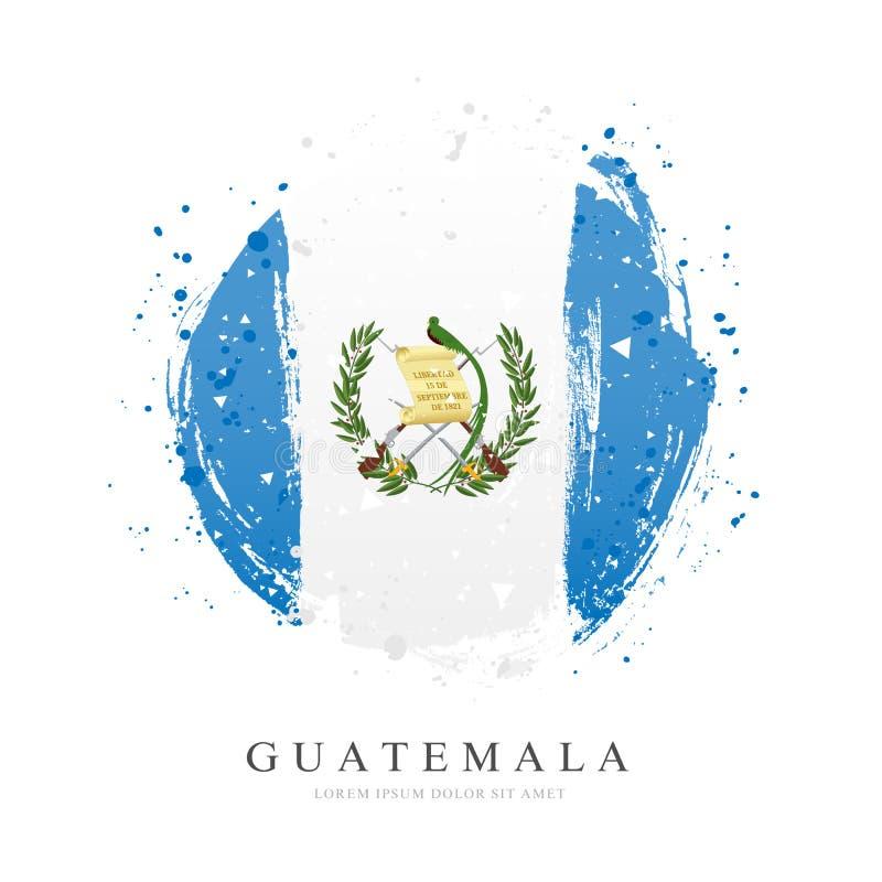 Bandera guatemalteca bajo la forma de círculo grande Ilustraci?n del vector stock de ilustración