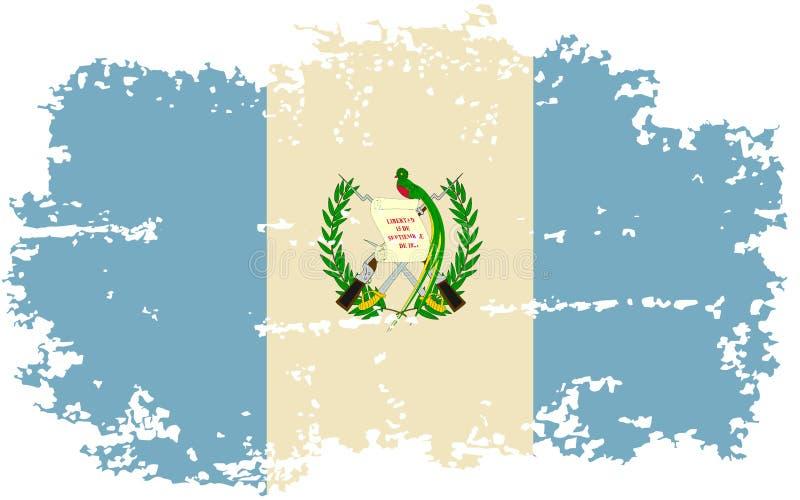 Bandera guatemalteca del grunge Ilustración del vector libre illustration