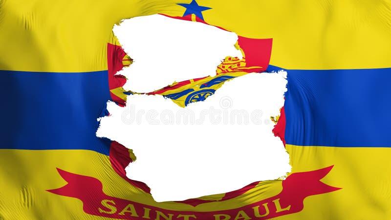 Bandera hecha andrajos del capital de Saint Paul ilustración del vector