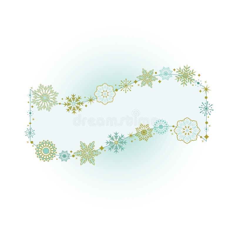 Bandera hermosa del copo de nieve libre illustration