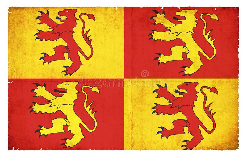 Bandera histórica País de Gales de Glyndwrs stock de ilustración