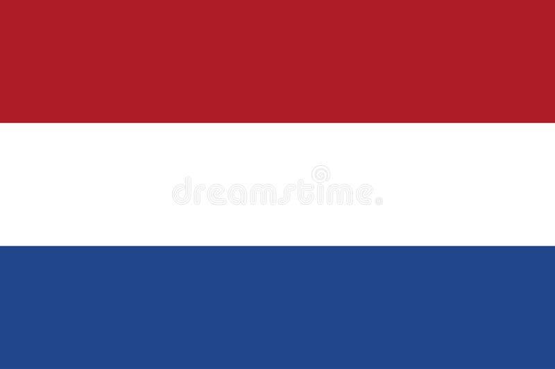 Bandera holandesa, colores oficiales y proporción correctamente Bandera holandesa nacional Ejemplo plano del vector EPS10 f stock de ilustración