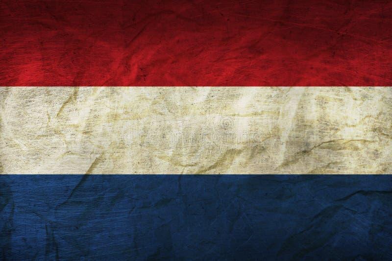Bandera holandesa en el papel ilustración del vector