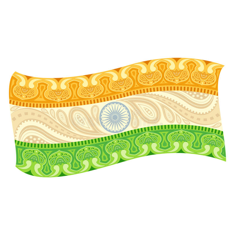 Download Bandera india ilustración del vector. Ilustración de naturalizado - 41901162