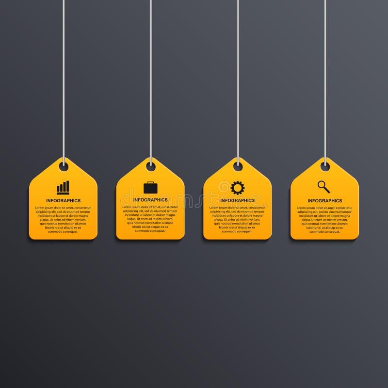 Bandera infographic moderna de las opciones Elementos del diseño libre illustration