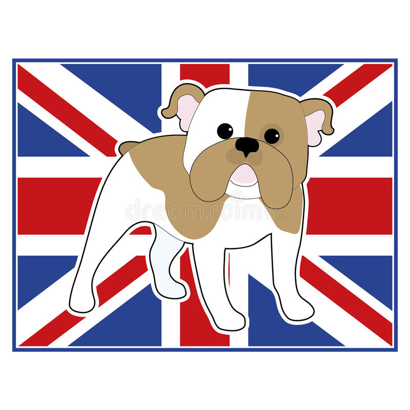 Bandera inglesa del dogo libre illustration