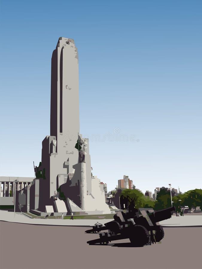 bandera la monumento wektora royalty ilustracja