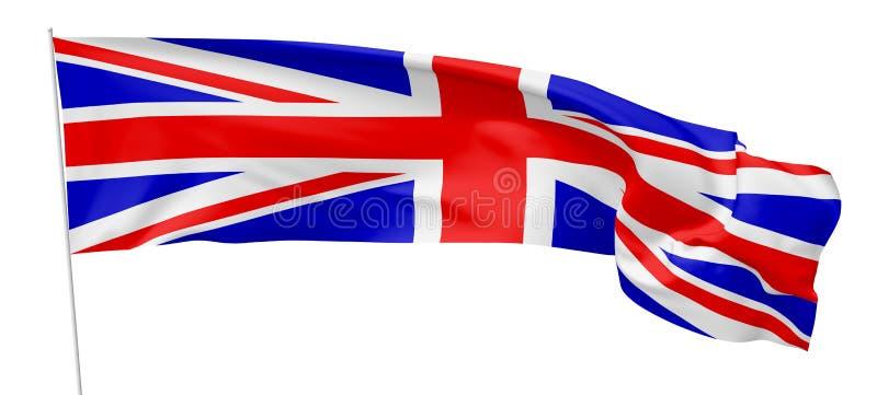 Bandera larga de Reino Unido en asta de bandera libre illustration